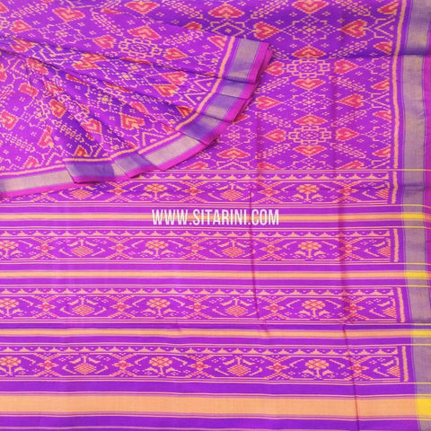 Patola Silk Saree-Single Ikkat-Multicolor-Sitarini-SITRPS276