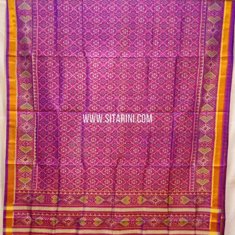 Patola Silk Saree-Single Ikkat-Multicolor-Sitarini-SITRPS281