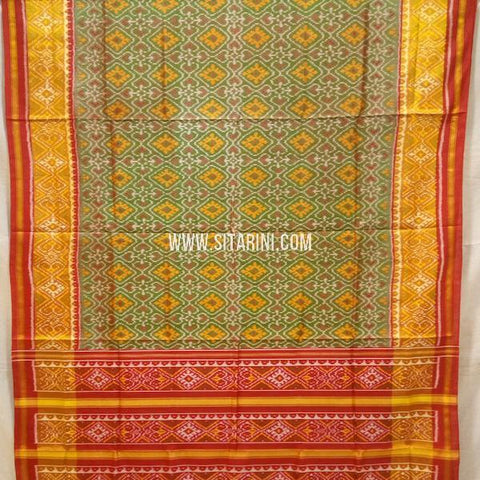 Patola Silk Saree-Single Ikkat-Multicolor-Sitarini-SITRPS301
