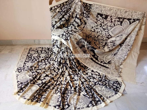 Pen Kalamkari Saree-Pattu-Sitarini-SITKASS351