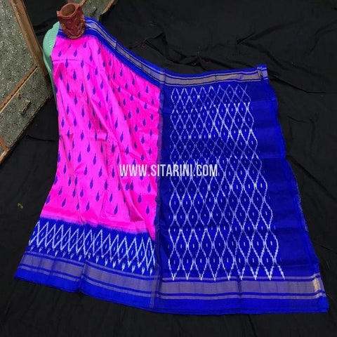 Pochampalli Pattu Light Weight Saree-Pink-Sitarini-SITIPS995