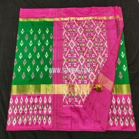 Pochampalli Saree-Pattu-Bottle Green-Sitarini-SITIPS861