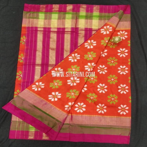 Pochampalli Saree-Pattu-Red-Sitarini-SITIPS921