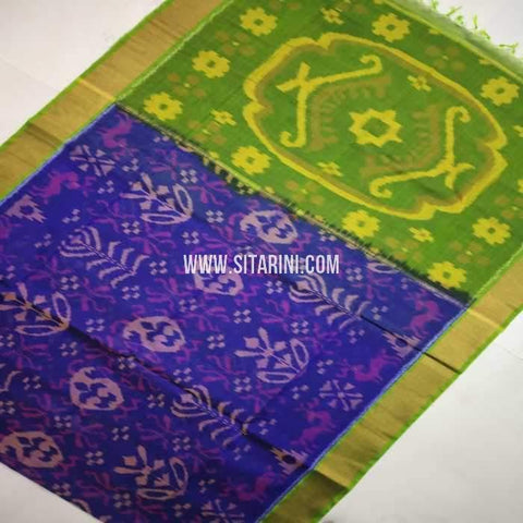 Pochampally Cotton Silk Saree-Multicolor-Sitarini-SITISCS107
