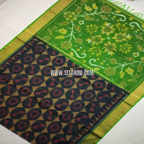 Pochampally Cotton Silk Saree-Multicolor-Sitarini-SITISCS109