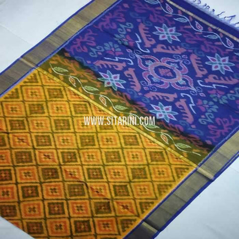 Pochampally Cotton Silk Saree-Multicolor-Sitarini-SITISCS113