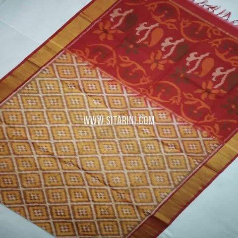 Pochampally Cotton Silk Saree-Multicolor-Sitarini-SITISCS115