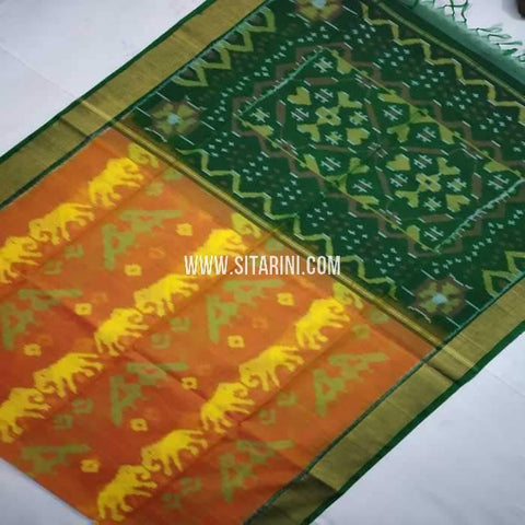 Pochampally Cotton Silk Saree-Multicolor-Sitarini-SITISCS116