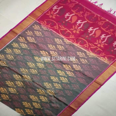 Pochampally Cotton Silk Saree-Multicolor-Sitarini-SITISCS117