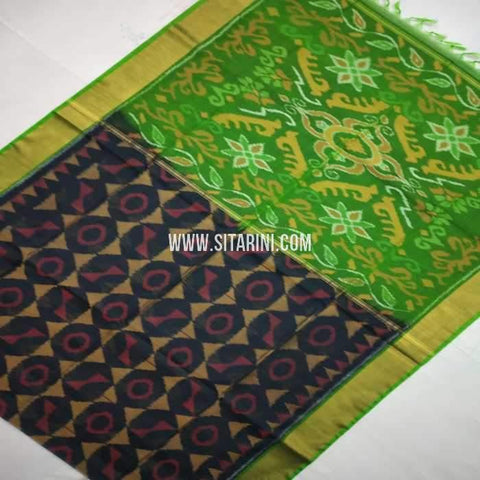 Pochampally Cotton Silk Saree-Multicolor-Sitarini-SITISCS118