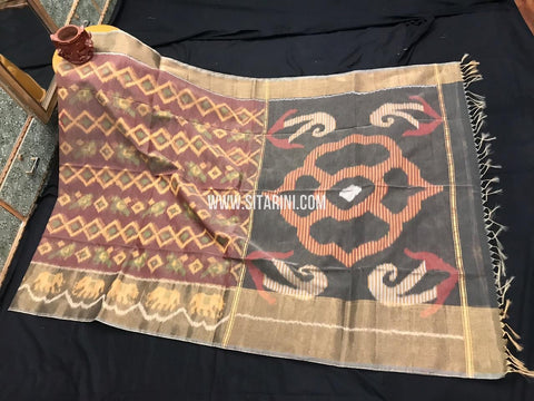 Pochampally Cotton Silk Saree-Multicolor-Sitarini-SITISCS299