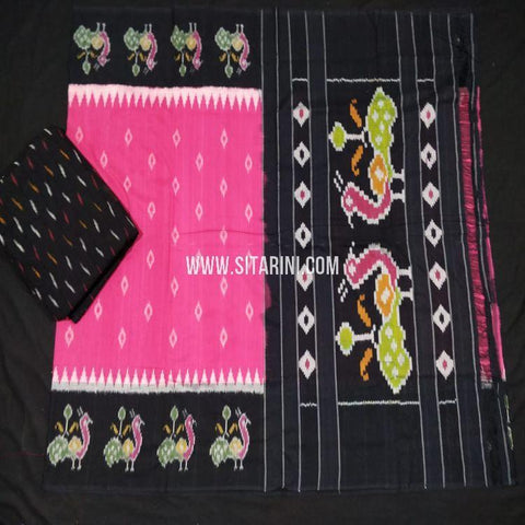 Pochampally Ikat Saree-Cotton-Multicolor-Sitarini-SITICS401