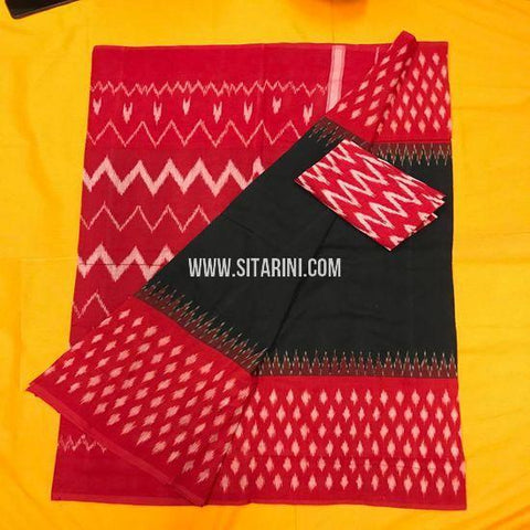 Pochampally Ikkat Cotton Saree-Multicolor-Sitarini-SITICS381