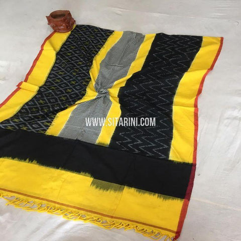 Pochampally Ikkat Dupatta-Cotton-Multicolor-Sitarini-SITICD167