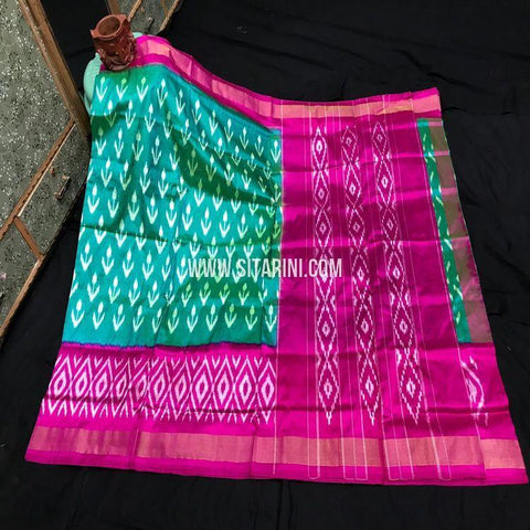 Pochampally Ikkat Light Weight Saree-Pattu-Sitarini-SITIPS999