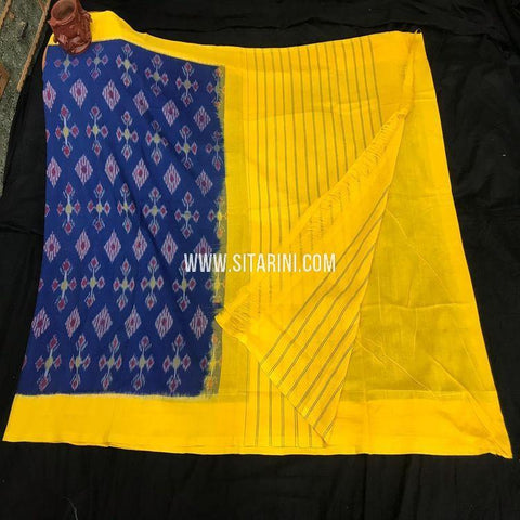 Pochampally Ikkat Saree-Cotton-Multicolor-Sitarini-SITICS446