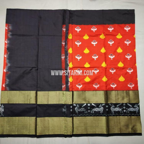 Pochampally Lehenga-Pattu-Red-Sitarini-SITEIL1171