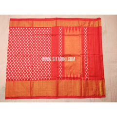 Pochampally Pattu Saree-Light Orange-Sitarini-PVHIPS119