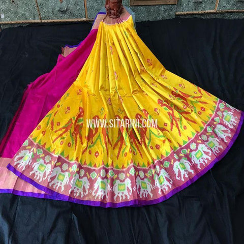 Pochampally Pavada-Silk-Yellow-Sitarini-SITEIL1192