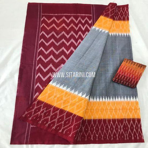 Pochampally Saree-Cotton-Multicolor-Sitarini-SITICS393