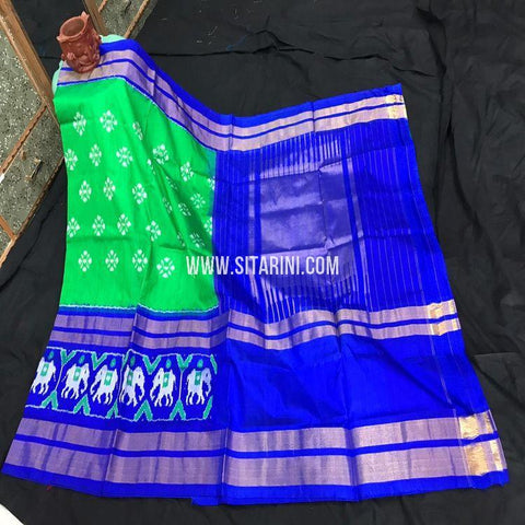 Pochampally Saree-Pattu-Green-Sitarini-SITIPS883