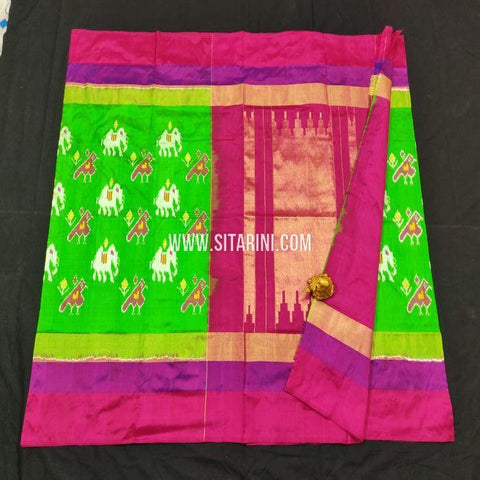 Pochampally Saree-Silk-Green-Sitarini-SITIPS859