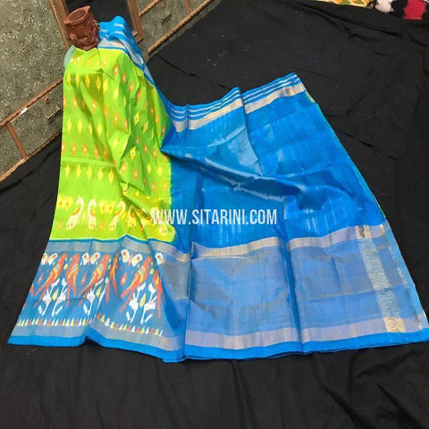Pochampally Saree-Silk-Green-Sitarini-SITIPS877