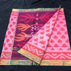 Pochampally Silk Cotton Saree-Multicolor-Sitarini-SITISCS173