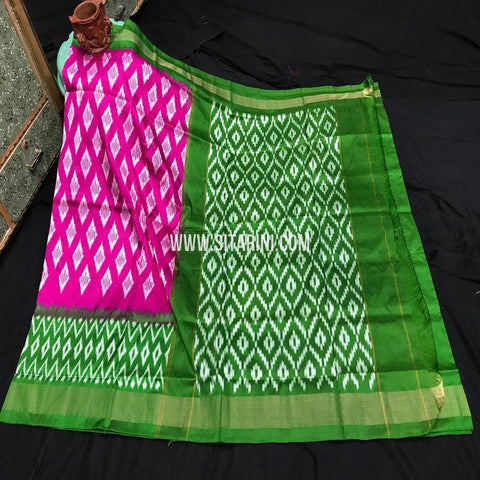 Pochampally Silk Light Weight Saree-Magenta-Sitarini-SITIPS991