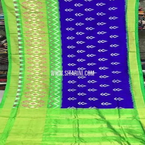 Pochampally Silk Saree-Blue-Sitarini-SITIPS760