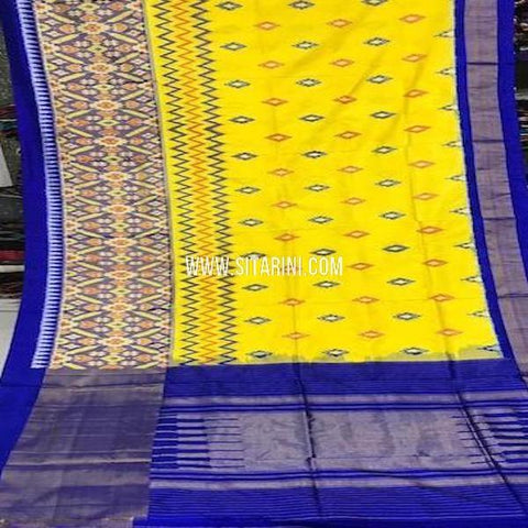 Pochampally Silk Saree-Yellow-Sitarini-SITIPS772