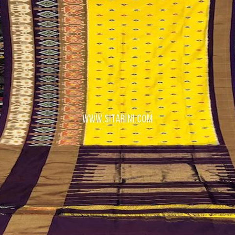Pochampally Silk Saree-Yellow-Sitarini-SITIPS775