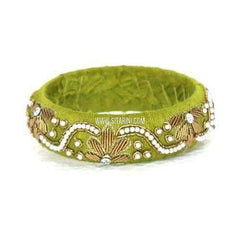 Raw Silk Bangles-Broad-One Piece-Sitarini