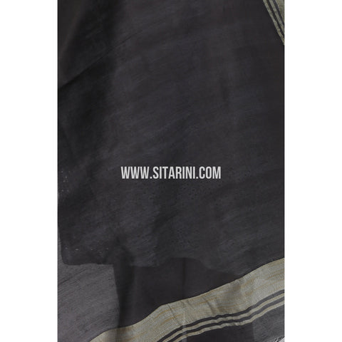 Silk Cotton Dupattas-Black-Sitarini-LWTSCD108