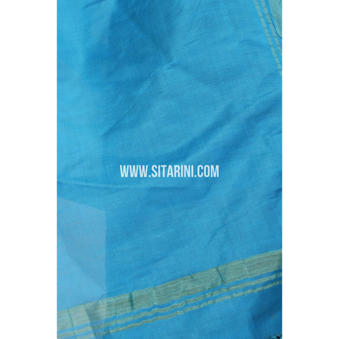 Silk Cotton Dupattas-Blue-Sitarini-LWTSCD106
