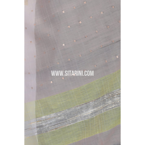 Silk Cotton Dupattas-Cream-Sitarini-LWTSCD115