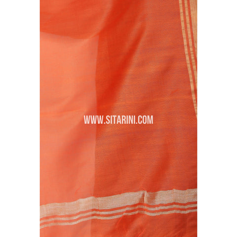 Silk Cotton Dupattas-Orange-Sitarini-LWTSCD101