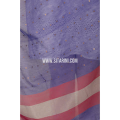 Silk Cotton Dupattas-Purple-Sitarini-LWTSCD116