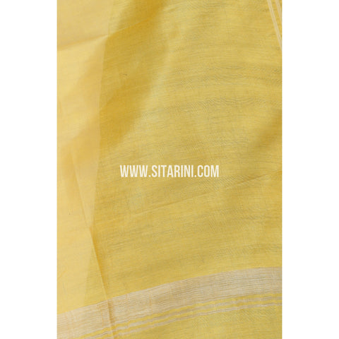 Silk Cotton Dupattas-Yellow-Sitarini-LWTSCD102