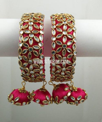 Silk Thread Bangles-Set of 2-Sitarini-SITSTB218