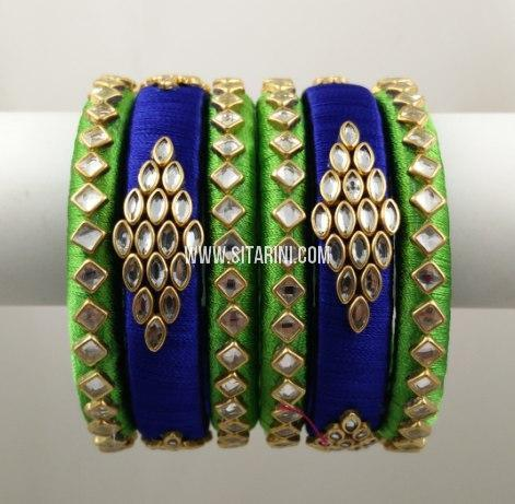 Silk Thread Bangles-Set of 2-Sitarini-SITSTB219