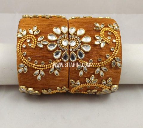 Silk Thread Bangles-Set of 2-Sitarini-SITSTB222