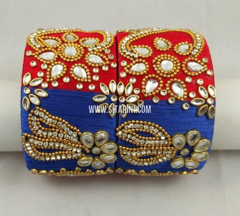 Silk Thread Bangles-Set of 2-Sitarini-SITSTB223