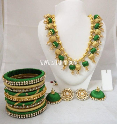 Silk Thread Jewelry Sets-Sitarini-SITSTJS177
