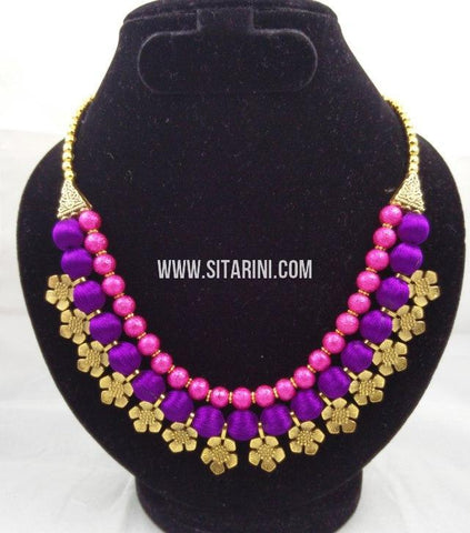 Silk Thread Jewelry Sets-Sitarini-SITSTJS179