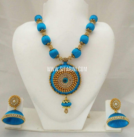 Silk Thread Jewelry Sets-Sitarini-SITSTJS180