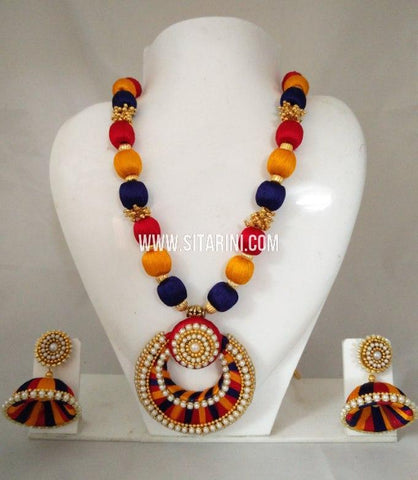 Silk Thread Jewelry Sets-Sitarini-SITSTJS181