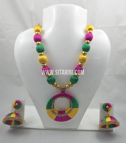 Silk Thread Jewelry Sets-Sitarini-SITSTJS182