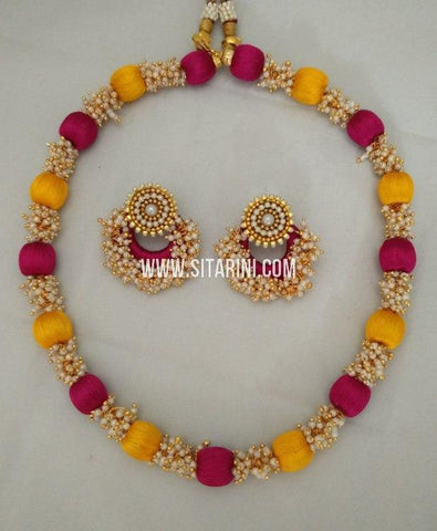 Silk Thread Jewelry Sets-Sitarini-SITSTJS183