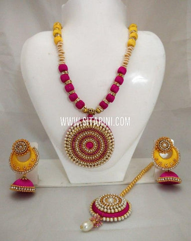 Silk Thread Jewelry Sets-Sitarini-SITSTJS184